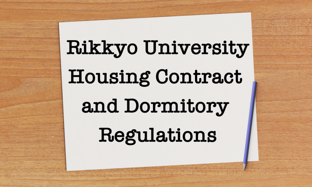 Housing Contract Dorm Regulations