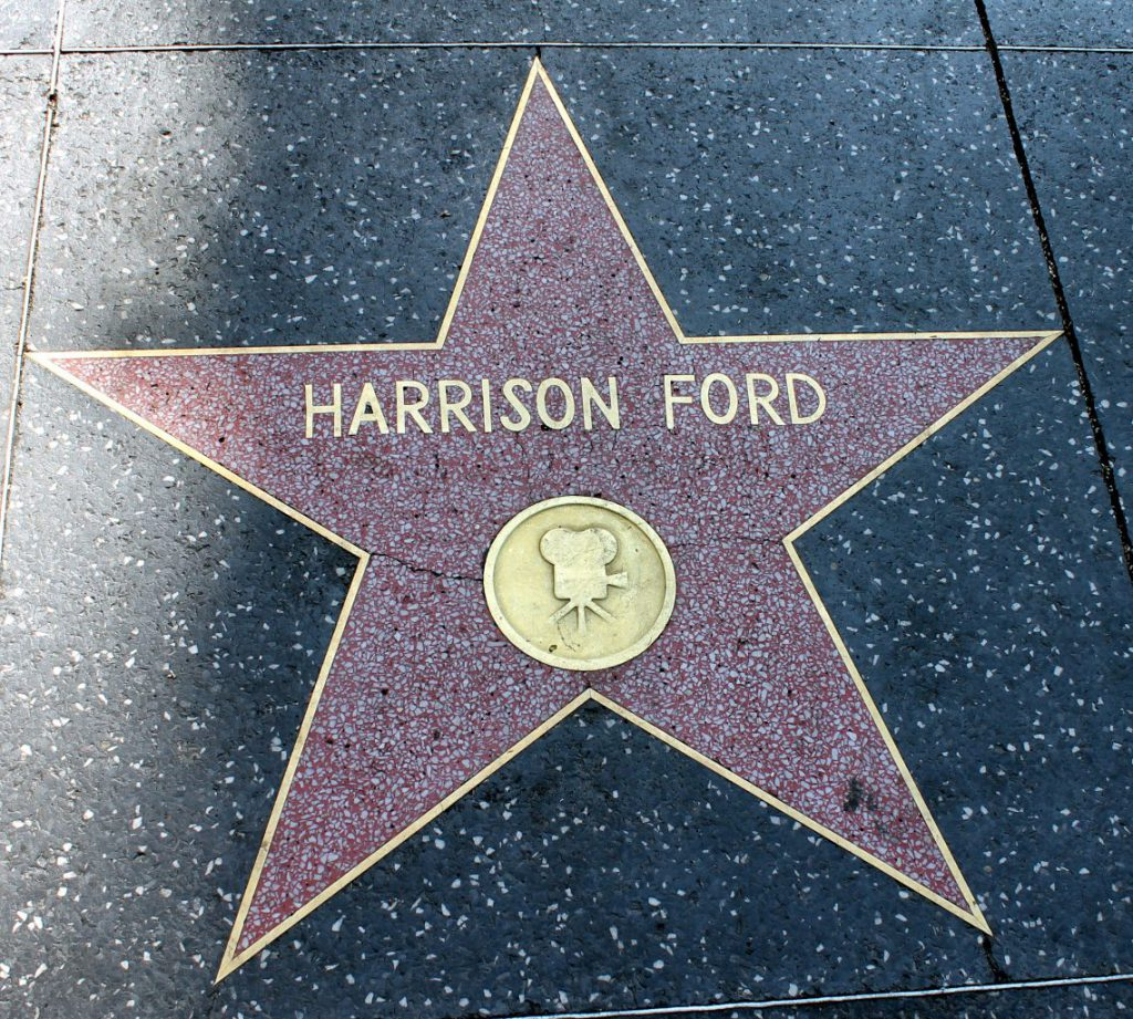 Harrison Ford Hollywood Walk of Fame Stars | Footsteps of a Dreamer
