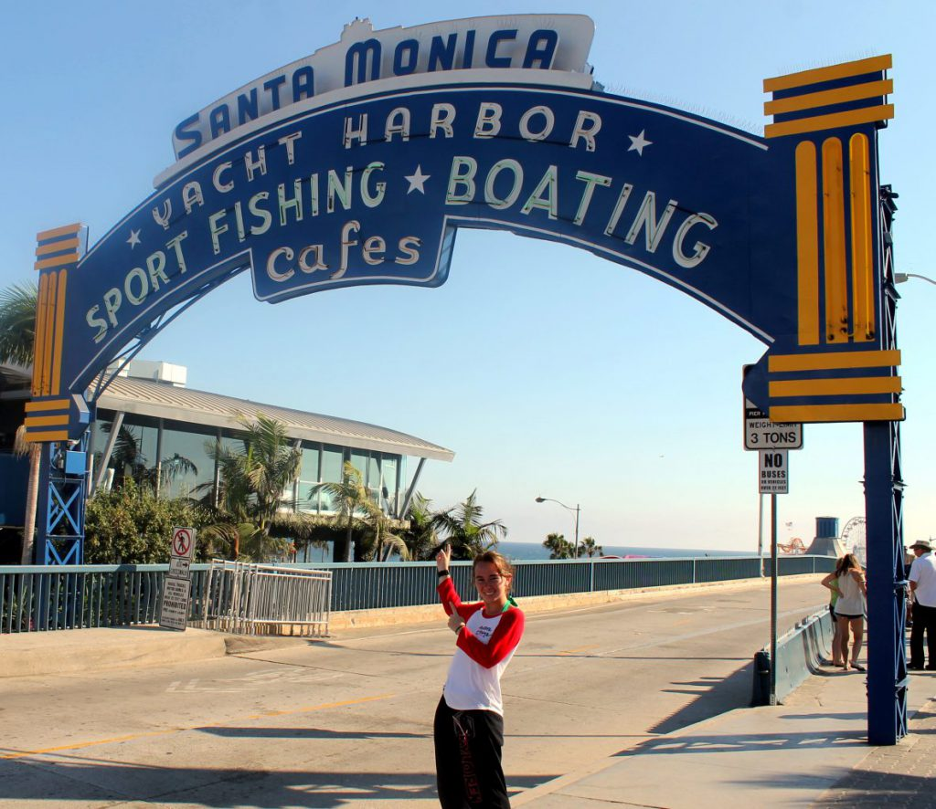 Entrance to Santa Monica Pier | Footsteps of a Dreamer