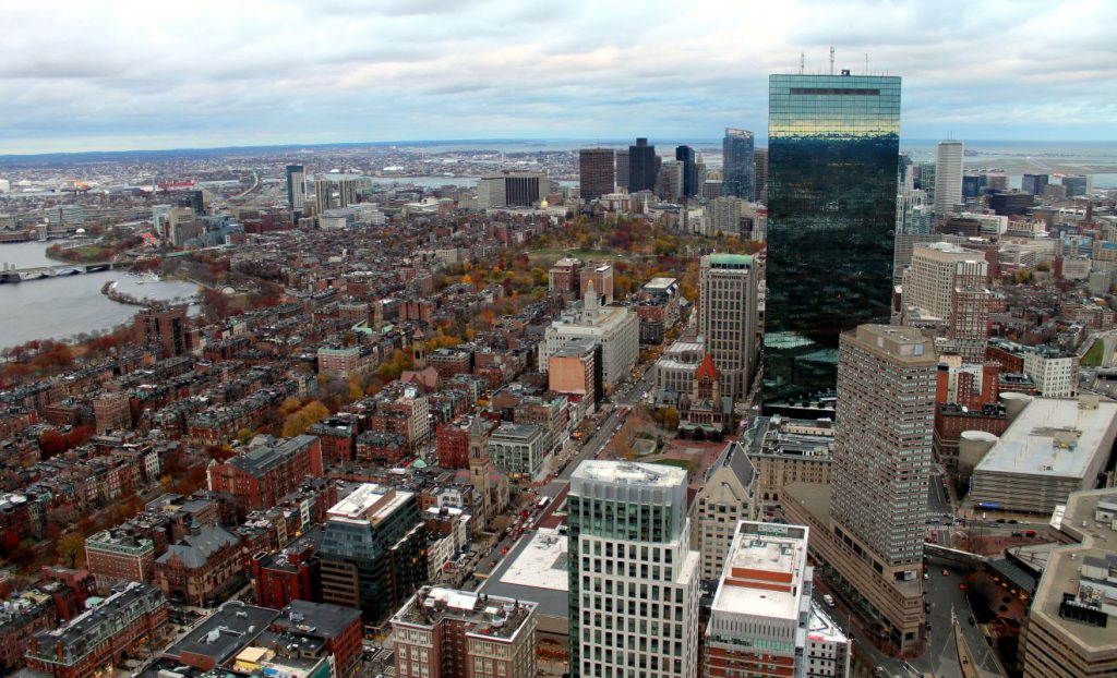 View of Boston from the Skywalk Observatory - Daytime