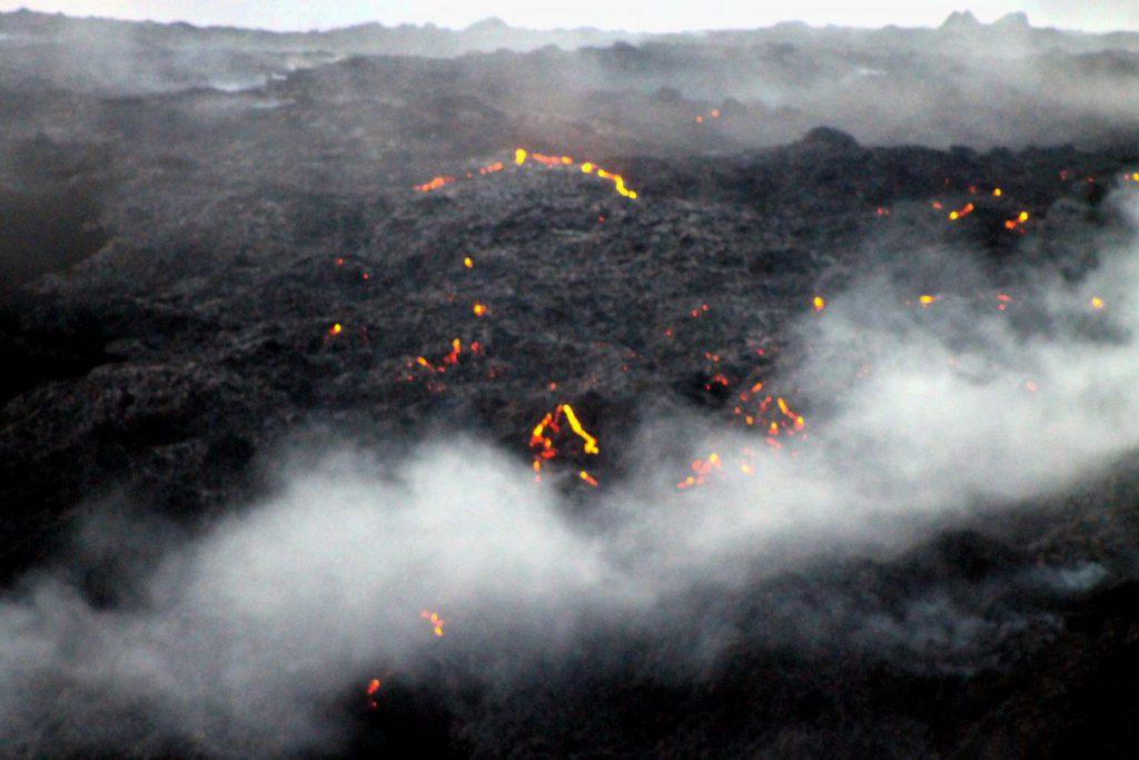 Kilauea Volcano Surface Lava