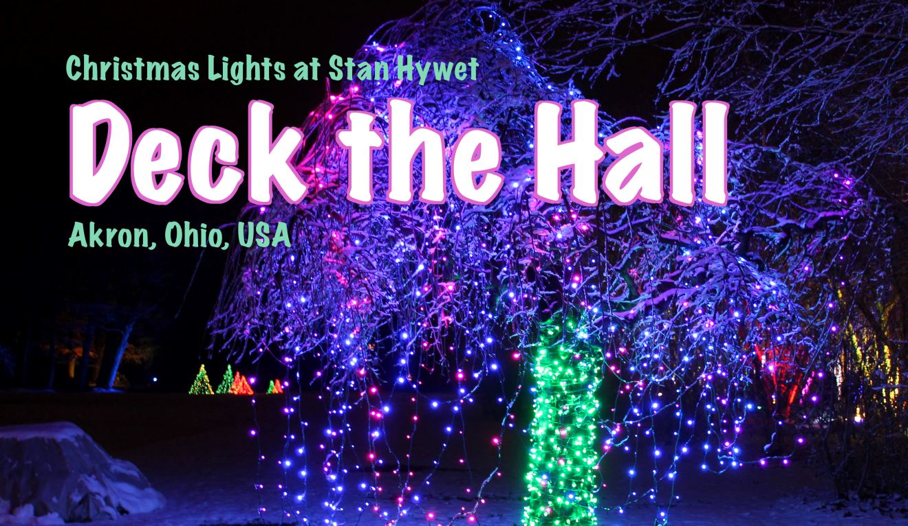 Deck the Hall: Christmas Lights at Stan Hywet in Akron, Ohio, USA ...