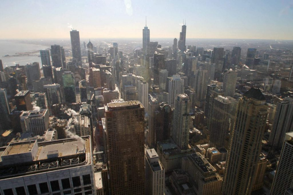 View from 360 Chicago Observatory | Footsteps of a Dreamer
