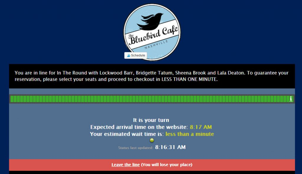 Bluebird Cafe Ticket Queue Process | Footsteps of a Dreamer
