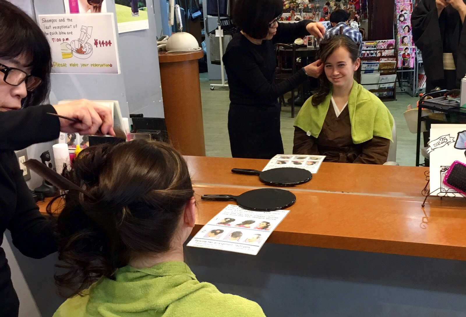Hair Styling at Kyoto Kimono Rental 41 | Footsteps of a Dreamer