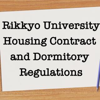 Housing Contract Dorm Regulations