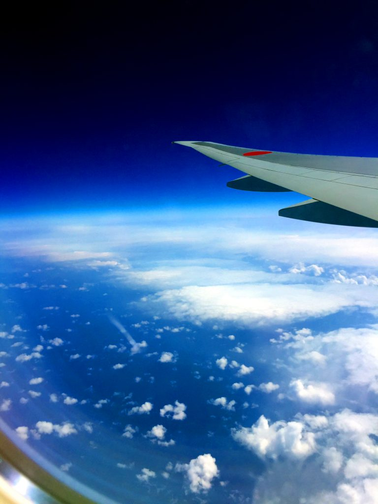 Plane Ride to Japan