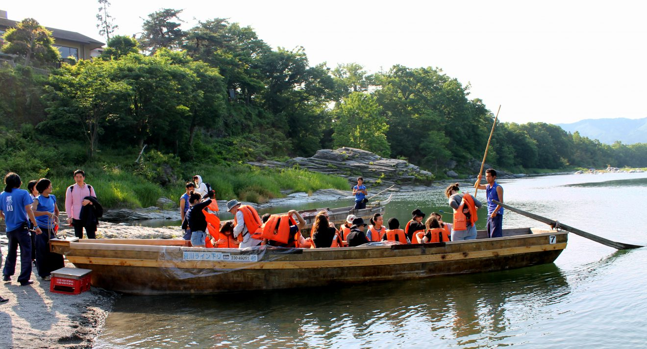 Wooden Boat Rafting