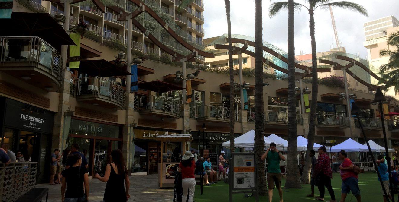 Shopping mall near Waikiki