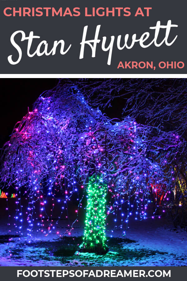 Christmas Lights at Stan Hywett | Footsteps of a Dreamer