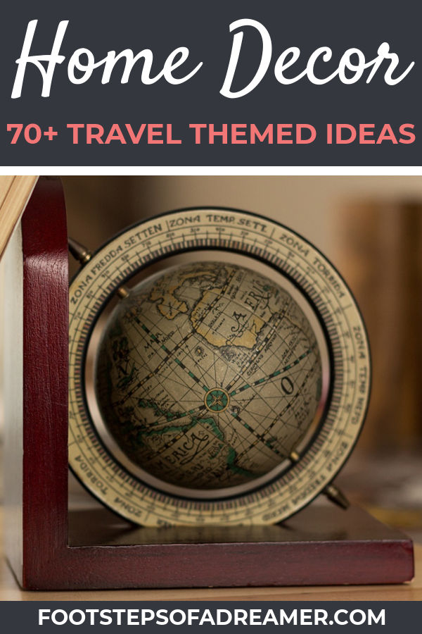 World Travel Themed Home Decor Ideas | Footsteps of a Dreamer