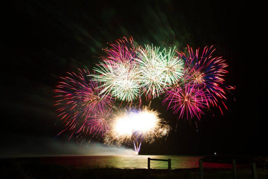 Fireworks on the Ocean   Footsteps of a Dreamer