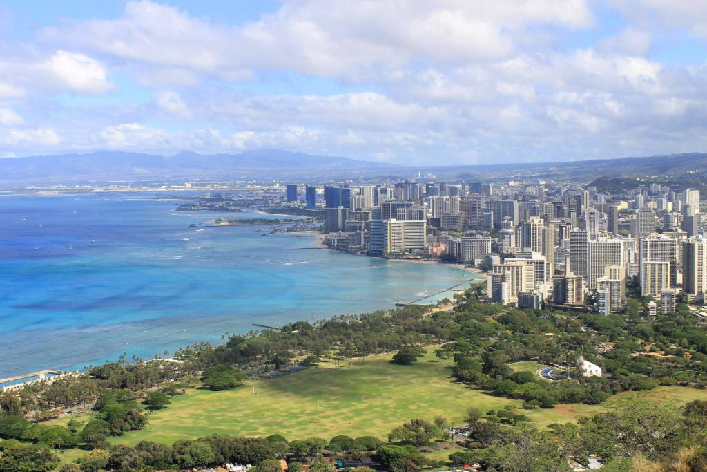 View from the top of Diamond Head | Footsteps of a Dreamer