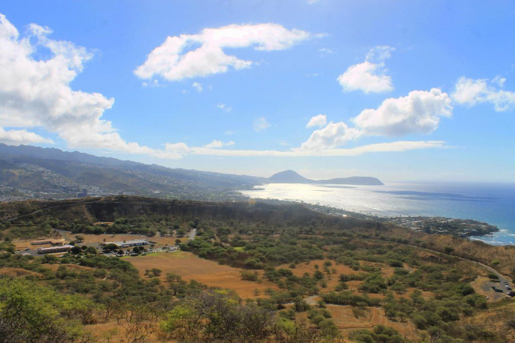 View from the top of Diamond Head   Footsteps of a Dreamer