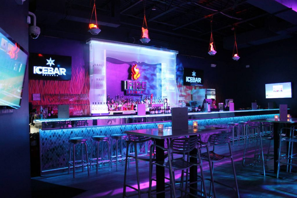 ICEBAR Fire Lounge Orlando Florida | Footsteps of a Dreamer