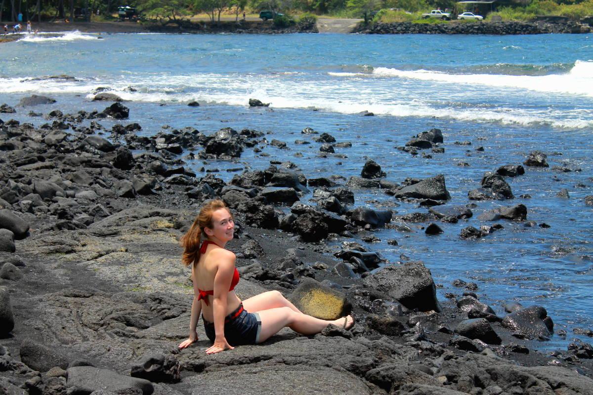 Punalu'u Black Sand Beach - Compressed