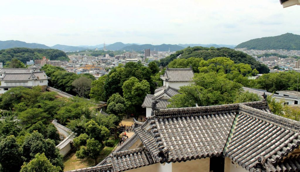 View from Himeji Castle | Footsteps of a Dreamer
