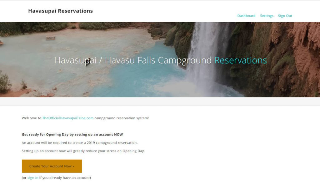 Havasupai Reservations Website | Footsteps of a Dreamer