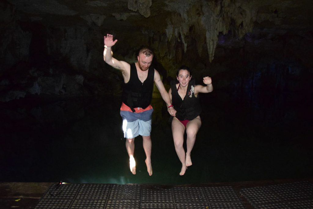 Jumping In Cenote Caracol Wet Route | Footsteps of a Dreamer