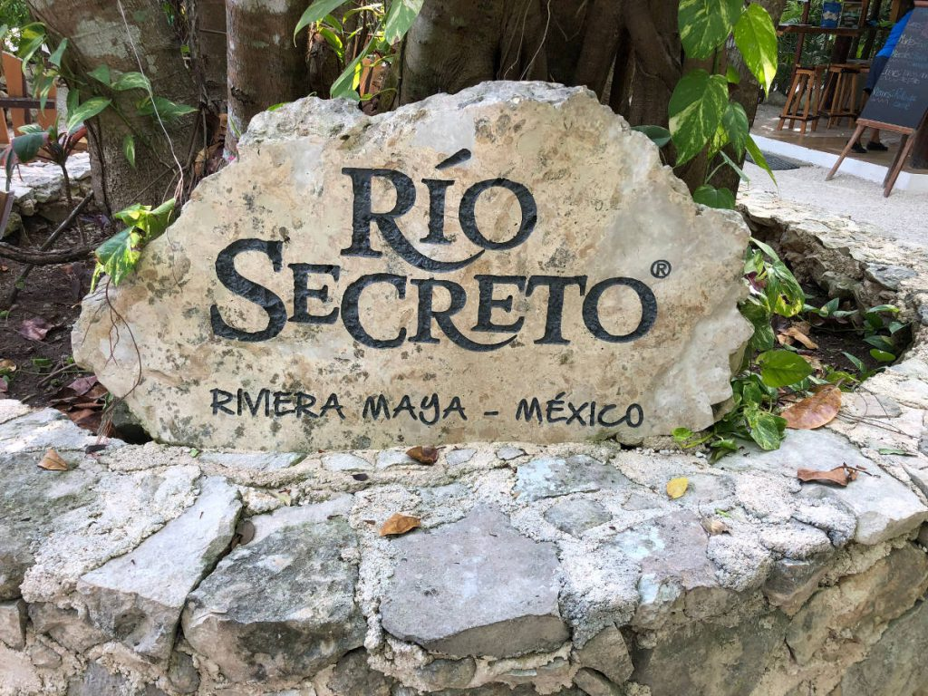 Rio Secreto Riviera Maya Mexico Sign | Footsteps of a Dreamer