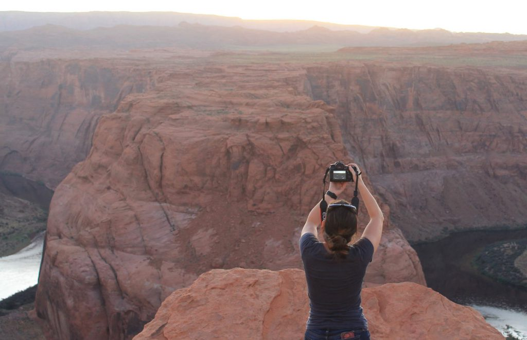 Me taking pictures at Horseshoe Bend